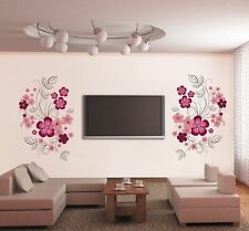 B3 Pink Flower Branches Vinyl Removable Art Wall Sticker Decal Home DIY Wall Dec