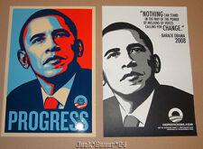 Shepard Fairey President Barack Obama Progress Sticker Print Poster
