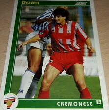 CARD SCORE 1993 CREMONESE DEZOTTI CALCIO FOOTBALL SOCCER ALBUM