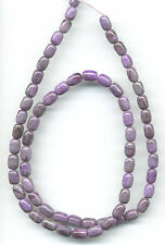 "LAVENDER SOUTH AFRICAN SUGILITE BARREL BEADS - 17.5"" Strand - 412B"
