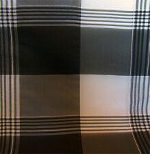 100% Silk Black and White Check Dress Craft Fabric Material