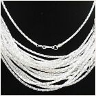 """Lot of 10PCS Silver Plated Hollow Snake Chain Necklace With Clasp finding,20""""S"""