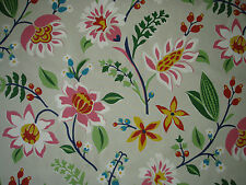 "SANDERSON CURTAIN FABRIC  ""Myrtle"" 5.4 METRES (540CM) BRIGHT MULTI 100% COTTON"