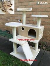 New  Custom designed Cat Tree Scratching Post ALL SISAL POLES Cat toy Bed PM 095