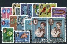 St Helena 1961-65 set + all chalk paper issues SG176/89+ MM cat £130