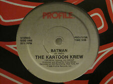 "THE KARTOON KREW BATMAN 12"" ORIG '86 PROFILE OLD SCHOOL HIP HOP ELECTRO RAP NM"