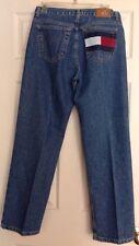 TOMMY HILFIGER Boyfriend Jeans Women's Size 8 Blue Denim Pants Vintage FLAG