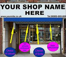 3.5 m Front Shop Pre Spaced Lettering Stickers Signwriting self adhesive signage