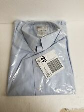KING'S COURT-BLUE PINSTRIPE MENS DRESS SHIRT-17 1/2 X 39-NEW IN PACKAGE-NICE