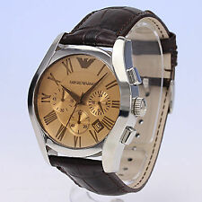 Authentic Armani AR-1634, Classic Brown Strap