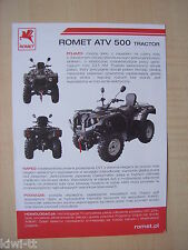 Romet ATV 500 Tractor Prospekt / Brochure, PL