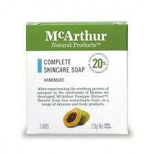 MCARTHUR COMPLETE SKINCARE - 3 PKT SOAP - PAW PAW SOAP AS SEEN ON TV