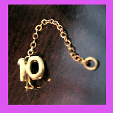 """Official #10""""Numeral Year Adult Girl Scout Pin Chain Guard NEW-Pkg. Multi=1 Ship"""