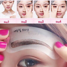 3 Style Eyebrow Grooming Stencil Kit Template Makeup Shaping Shaper Tool Sale