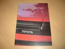 CATALOGUE gamme Toyota de 1984 Belgique