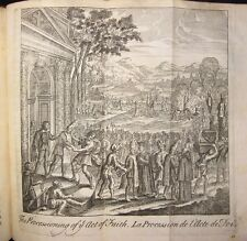 Burning at Stake 1724 Tryal Suffering Mr Martin Fold Plates RARE Inquisition