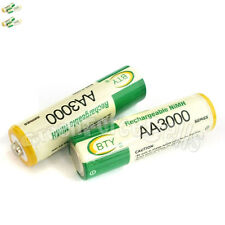 4 pcs AA LR06 3000mAh 1.2V NI-MH rechargeable battery CELL/RC 2A BTY Green