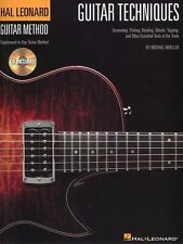Guitar Techniques Learn to Play Strumming Picking Bending Music Book & CD