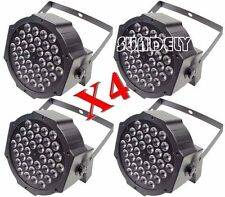 4X RGB LED Stage Light DMX Par Can Uplighter Lighting Effect DJ Disco Band Party