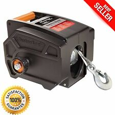 Electric Winch Towing 12 V Volt Portable Boat ATV Truck Trailer 6000 LB Remote