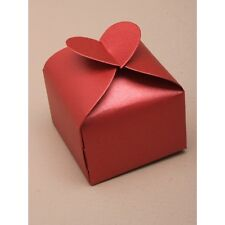 NEW 12 Red heart wedding favour gift box 6x6x6cm valentines bride
