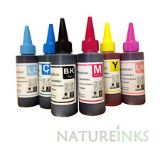 6 Refill Premium Ink dye Bottle kit for CISS Refillable Printer Cartridges 600ml