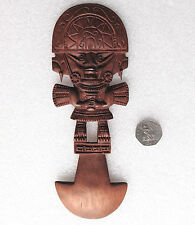 Peruvian Tumi ornament traditional Inca god wood carving Peru South America