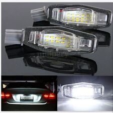 2x White LED License Plate Lights Fit For Acura TL RL TSX RDX Honda Civic Accord