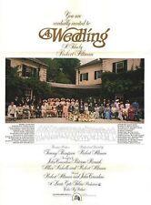 Affiche 70x100cm A WEDDING /UN MARIAGE 1978 Robert Altman, Vittorio Gassman NEUV