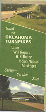 1969 Oklahoma Turnpikes Vintage Road Map and Guide