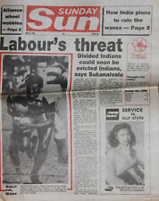 WALES RUGBY TOUR SOUTH SEAS FIJI SUNDAY SUN 25th May 1986 NEWSPAPER + COA
