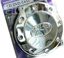 Hardshell Chrome Hard Casing Car Van Home 18 CD DVD Holder Wallet Storage Case