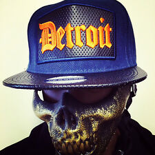 VIP FASHION BASECAPS BLUE BASECAP SNAPBACK MÜTZE UNISEX HIP HOP DETROIT FASHION