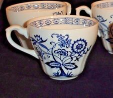 J G Meakin Blue Nordic Tea Coffee Cups Ironstone England Set of 6 Vintage