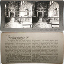 Keystone Stereoview Sistine Chapel, Vatican, Rome ITALY From RARE 1200 Card Set