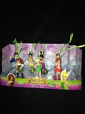 Disney Authentic Tinkerbell & Pirate Fairy Christmas Ornaments Figure 7pc Set