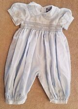 CARRIAGE BOUTIQUES 6 MONTH BLUE SMOCKED OUTFIT ADORABLE