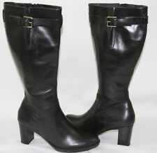 ECCO SAUNTER BLACK LEATHER RIDING KNEE HIGH BOOT    SZ 8    MASRP$259