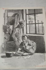 LITHOGRAPHIE GALOYER LES HEURES SE SUIVENT CAMP OFLAG GUERRE 39-45 RESISTANCE