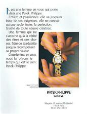 ▬► PUBLICITE ADVERTISING AD Montre Watch PHILIPPE PATEK Nautilus 1991