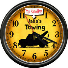 Personalized Towing Tow Truck Driver Sign Clock #929