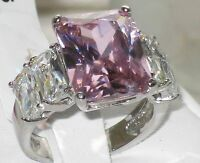 size J L N P R T 5 - 10 Simulated PINK Sapphire 5stone Engagement Ring LTK088E
