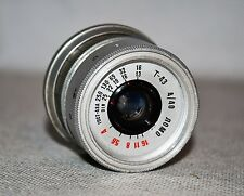 HAND MADE M39 mount USSR SILVER LOMO T-43 f4/40 LENS from SMENA-8m (ITEM №6)