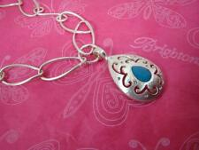 BRIGHTON VERSAILLES JUPITER silver/Blue Long NECKLACE $108 nwt