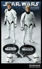 SIDESHOW Exclusive LUKE Skywalker & HAN Solo STORMTROOPER FIGURE Set STAR WARS