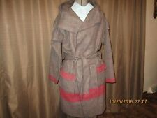 Capote coat size lg  Brown Swiss army White cross version