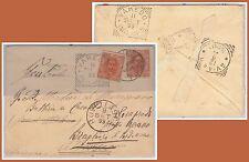 ITALIA REGNO - Storia Postale:  BUSTA rispedita con francobollo aggiunto 1899