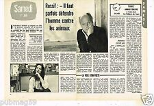 Coupure de Presse Clipping 1974 (2 pages) Frederic Rossif