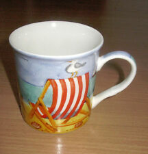 Leonardo Collection Mug Fine Bone China England On The Beach Seaside 10 oz