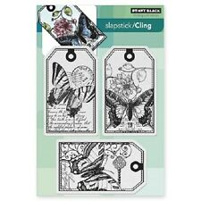 PENNY BLACK RUBBER STAMPS SLAPSTICK CLING BUTTERFLY PARTY STAMP 2014
